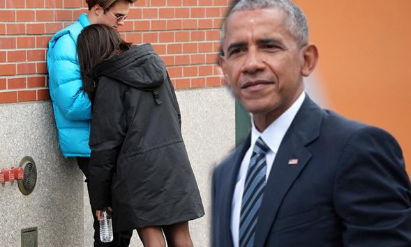 Obama'nın kızı sokak ortasında böyle yakalandı!