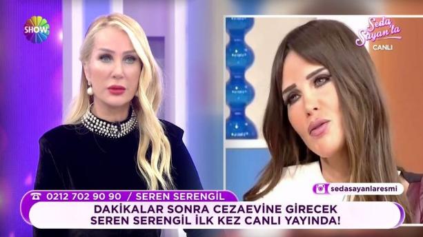 Seren Serengil, Seda Sayan'ın programına bağlandı