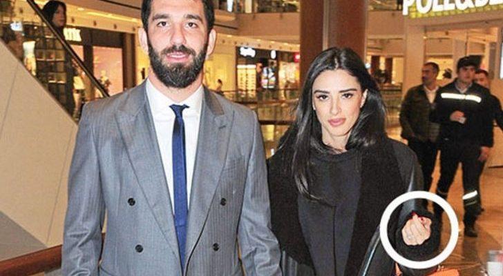 Arda Turan ile Aslıhan Doğan nikâh sonrası ilk kez görüntülendi