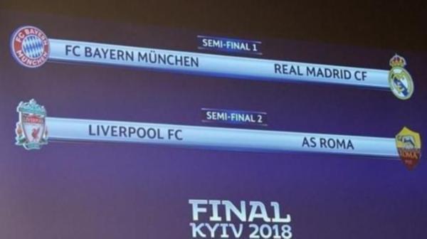Şampiyonlar Ligi yarı final kura çekiminde büyük skandal