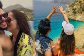 Rüzgar Erkoçlar ve eşi Tuğba Beyazoğlu'nun gecikmeli balayı tatili