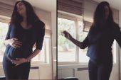 7 aylık hamile Azra Akın dans videosuyla Instagram'ı salladı