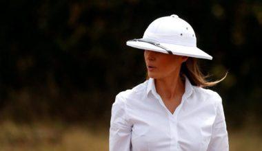 First Lady'nin şapkası olay yarattı