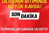Galatasaray – Fenerbahçe maçının ardından yumruklar havada uçuştu
