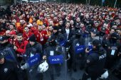 Galatasaray taraftarları Vodafone Park'a geldi…